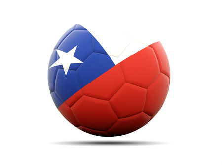worldcup: Football with flag of chile. 3D illustration Stock Photo