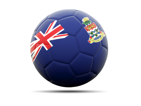 cayman islands: Football with flag of cayman islands. 3D illustration Stock Photo