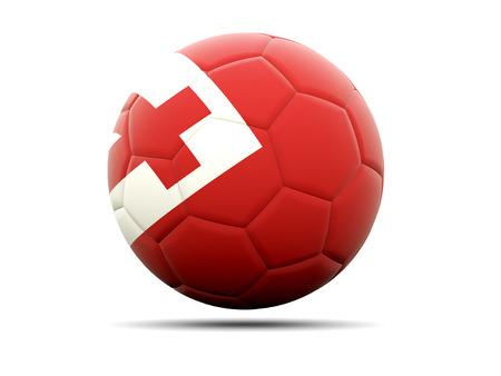 tonga: Football with flag of tonga. 3D illustration