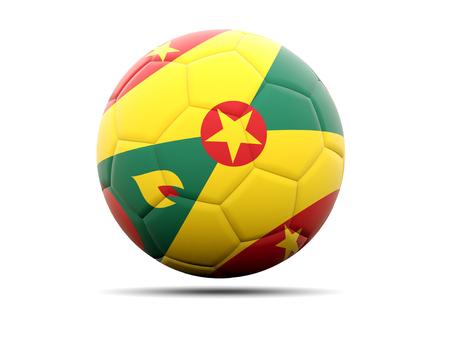 grenada: Football with flag of grenada. 3D illustration