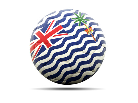indian ocean: Football with flag of british indian ocean territory. 3D illustration