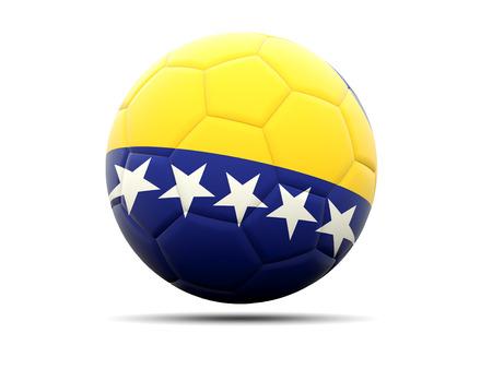 bosnia and herzegovina flag: Football with flag of bosnia and herzegovina. 3D illustration Stock Photo