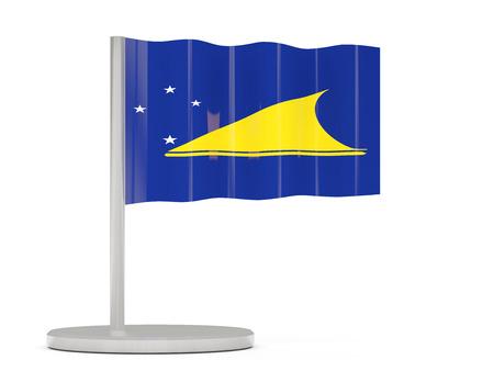 tokelau: Pin with flag of tokelau. 3D illustration