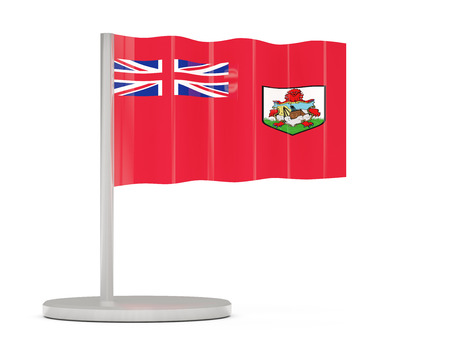 bermuda: Pin with flag of bermuda. 3D illustration Stock Photo
