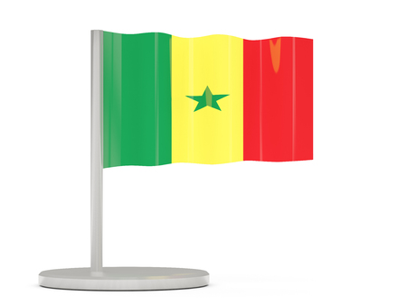 senegal: Pin with flag of senegal. 3D illustration Stock Photo