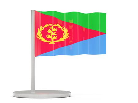 eritrea: Pin with flag of eritrea. 3D illustration