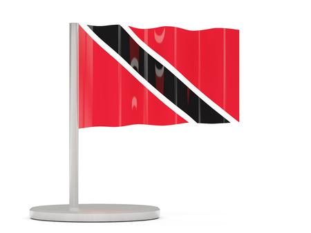national flag trinidad and tobago: Pin with flag of trinidad and tobago. 3D illustration