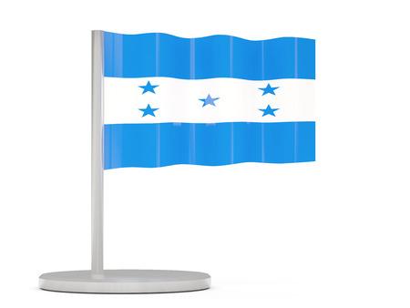 honduras: Pin with flag of honduras. 3D illustration Stock Photo