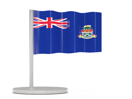 cayman islands: Pin with flag of cayman islands. 3D illustration Stock Photo