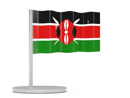 kenya: Pin with flag of kenya. 3D illustration Stock Photo