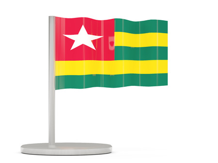 togo: Pin with flag of togo. 3D illustration