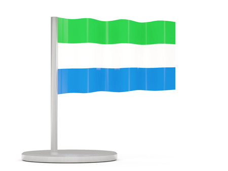 sierra: Pin with flag of sierra leone. 3D illustration Stock Photo