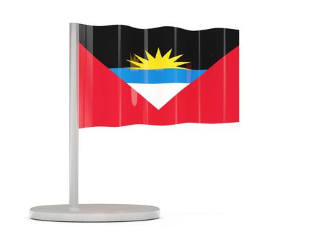 antigua and barbuda: Pin with flag of antigua and barbuda. 3D illustration Stock Photo