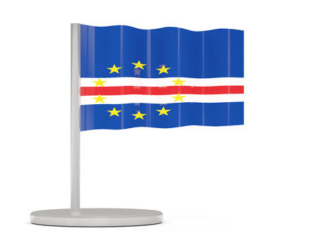 cape: Pin with flag of cape verde. 3D illustration
