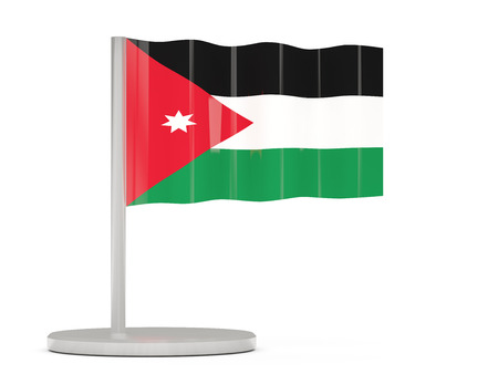 jordan: Pin with flag of jordan. 3D illustration