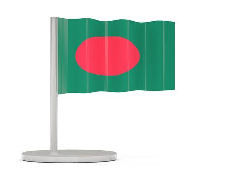 national flag bangladesh: Pin with flag of bangladesh. 3D illustration