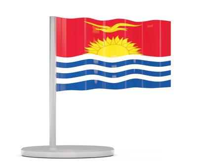 kiribati: Pin with flag of kiribati. 3D illustration