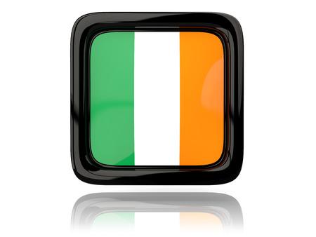 ireland flag: Square icon with flag of ireland. 3D illustration