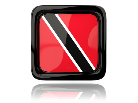 trinidad and tobago: Square icon with flag of trinidad and tobago. 3D illustration