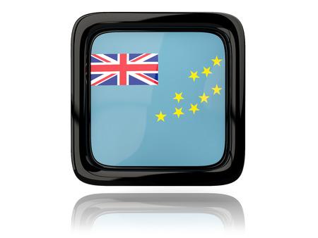 tuvalu: Square icon with flag of tuvalu. 3D illustration Stock Photo
