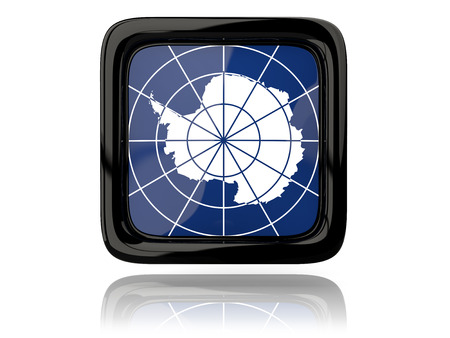 antarctica: Square icon with flag of antarctica. 3D illustration Stock Photo