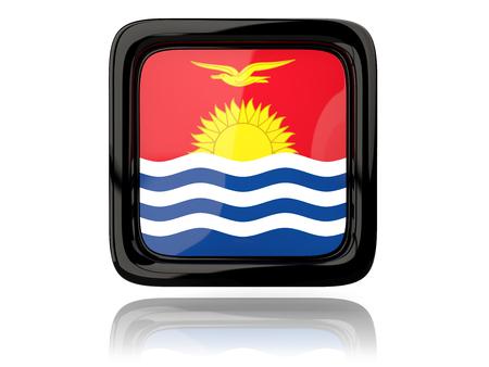 kiribati: Square icon with flag of kiribati. 3D illustration