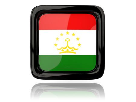 tajikistan: Square icon with flag of tajikistan. 3D illustration Stock Photo