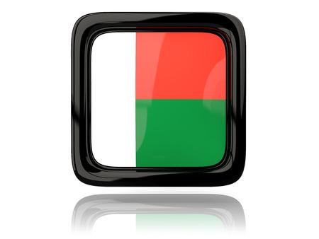 madagascar: Square icon with flag of madagascar. 3D illustration