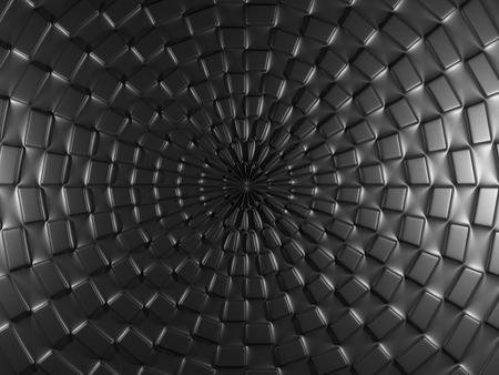 metal black: Black background with square elements. 3D illustration