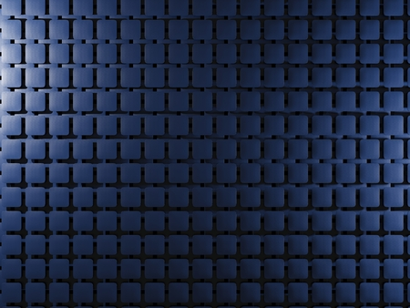 industrial hole: Blue background with square elements. 3D illustration Stock Photo