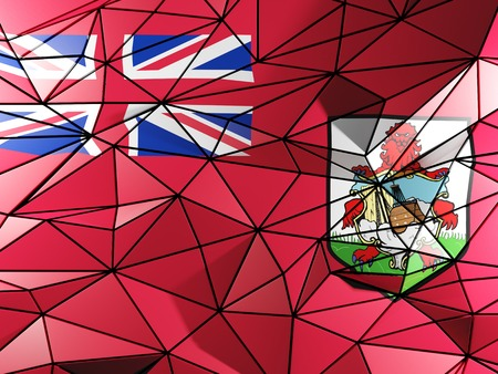 bermuda: Triangle background with flag of bermuda