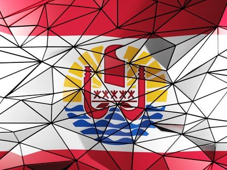 polynesia: Triangle background with flag of french polynesia
