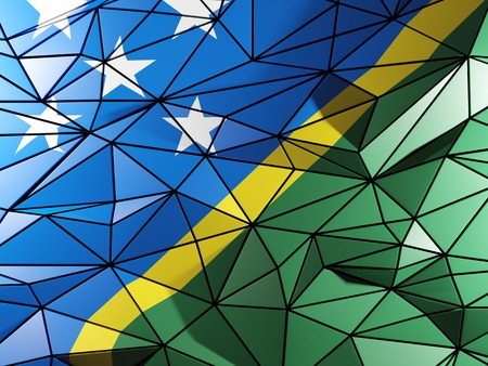 solomon: Triangle background with flag of solomon islands
