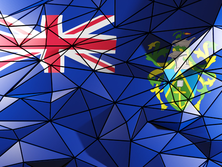 pitcairn: Triangle background with flag of pitcairn islands