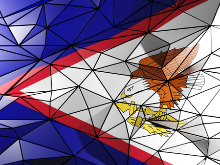 samoa: Triangle background with flag of american samoa