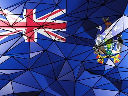 south georgia: Triangle background with flag of south georgia and the south sandwich islands