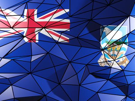 falkland: Triangle background with flag of falkland islands
