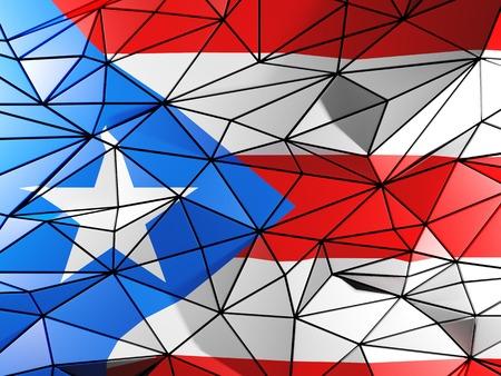 bandera de puerto rico: Triángulo de fondo con la bandera de Puerto Rico