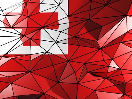 tonga: Triangle background with flag of tonga
