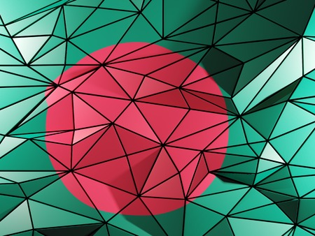 national flag bangladesh: Triangle background with flag of bangladesh Stock Photo