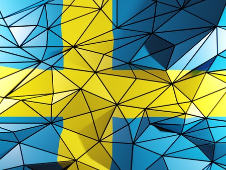 Triangle background with flag of sweden