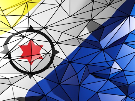 bonaire: Triangle background with flag of bonaire Stock Photo