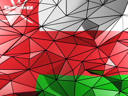 oman background: Triangle background with flag of oman