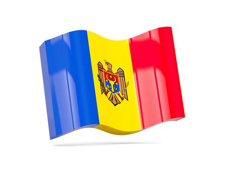 moldova: Wave icon with flag of moldova. 3D illustration