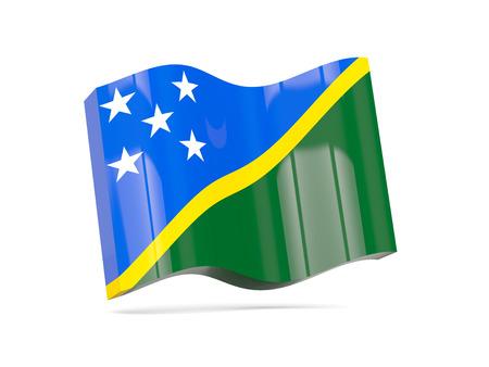 solomon: Wave icon with flag of solomon islands. 3D illustration Stock Photo