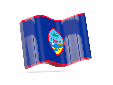 guam: Wave icon with flag of guam. 3D illustration