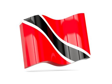 tobago: Wave icon with flag of trinidad and tobago. 3D illustration