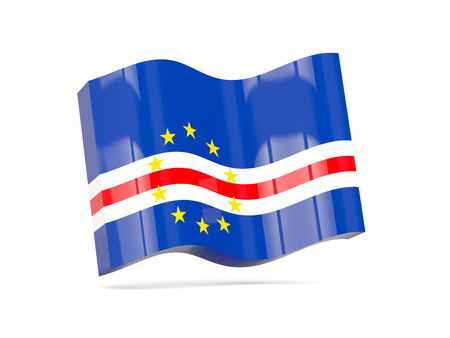 cape verde: Wave icon with flag of cape verde. 3D illustration Stock Photo