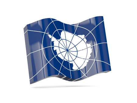 antarctica: Wave icon with flag of antarctica. 3D illustration