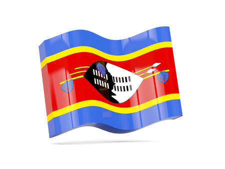 swaziland: Wave icon with flag of swaziland. 3D illustration Stock Photo